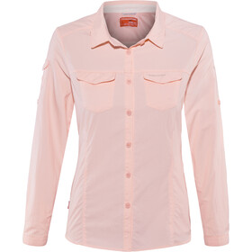 Craghoppers NosiLife Adventure II Longsleeve Shirt Dames, seashell pink